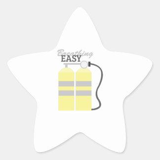 Respiración fácil pegatina en forma de estrella