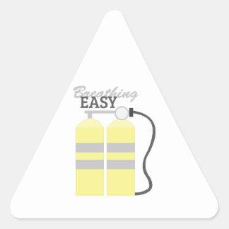 Respiración fácil pegatina triangular