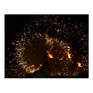 Respiradero y bailarín españoles 2 del fuego postal