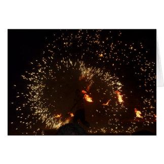 Respiradero y bailarín españoles 2 del fuego tarjeta de felicitación
