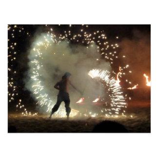 Respiradero y bailarín españoles del fuego postal