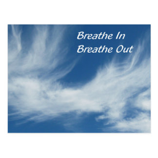 Respire adentro respiran hacia fuera postal