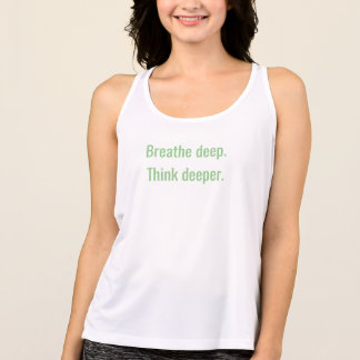 Respire el mensaje profundo camiseta de tirantes