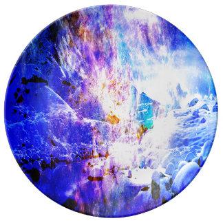 Respire otra vez los sueños de la noche de Yule Plato De Porcelana