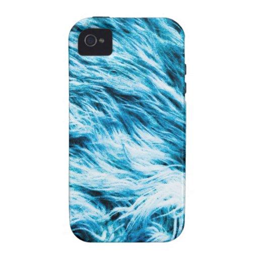 Resplandor azul vibe iPhone 4 funda