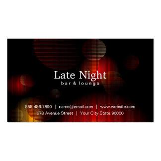 Resplandor de la noche tarjetas de visita
