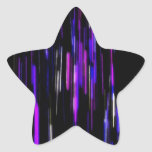 Resplandor espacioso calcomanía forma de estrella