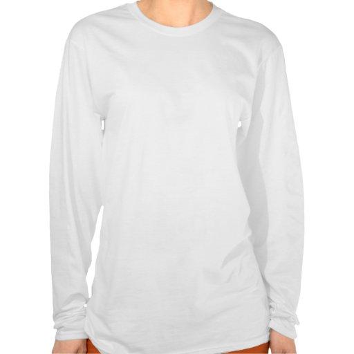 Resplandor solar del azul del unicornio camiseta