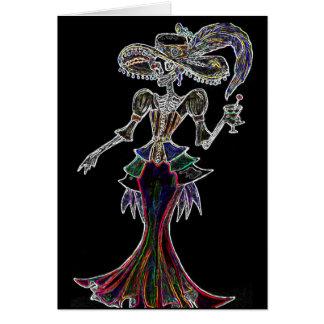 Resplandor Steampunk Catrina, Dia de los Muertos Tarjeta De Felicitación
