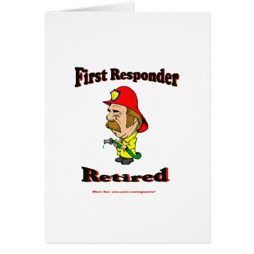 Respondedores jubilados del fuego tarjetas