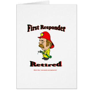 Respondedores jubilados del fuego tarjeta de felicitación
