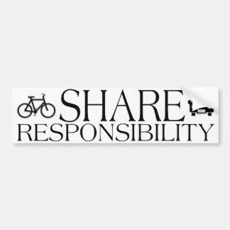 Responsabilidad de la parte pegatina para coche