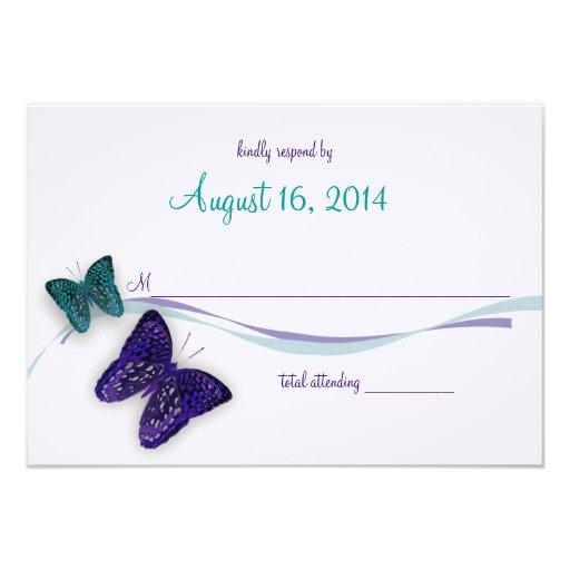 Respuesta de la mariposa invitacion personal
