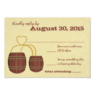 Respuesta del boda de la cervecería de la cerveza invitación 8,9 x 12,7 cm