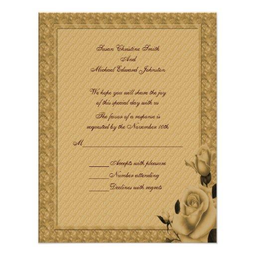 Respuesta floral RSVP del boda de los capullos de Comunicados Personales