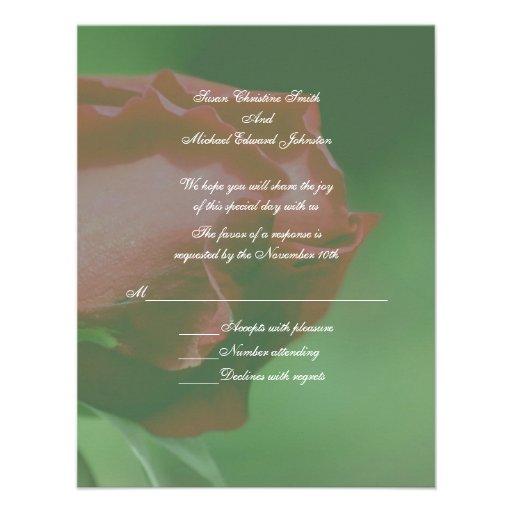 Respuesta floral RSVP del boda del capullo de rosa Anuncio Personalizado