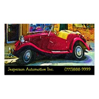 Restauración automotriz de coches clásicos tarjetas de visita