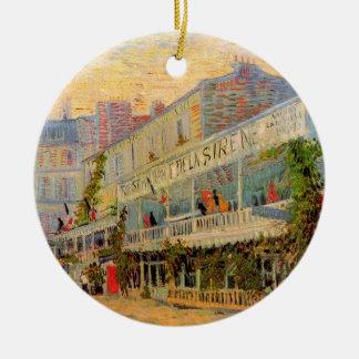Restaurant de la Sirene en Asnieres de Van Gogh Ornamento Para Arbol De Navidad