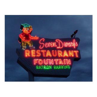Restaurante de 7 enanos en Wheaton IL. Señal de Postal
