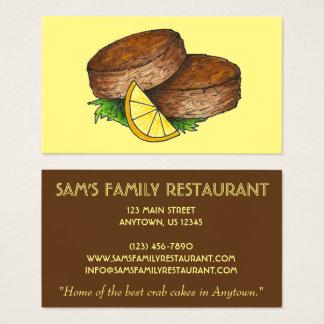 Restaurante de la comida del cocinero de los tarjeta de negocios