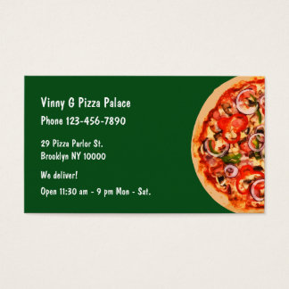 Restaurante de la sala de pizza tarjeta de negocios