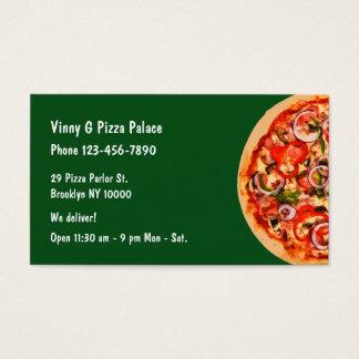 Restaurante de la sala de pizza tarjeta de visita