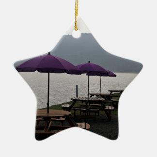 Restaurante del aire abierto en Escocia Adorno De Cerámica En Forma De Estrella
