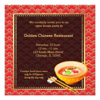 Restaurante del chino de la gran inauguración anuncio