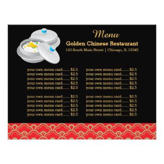 Restaurante del chino del menú flyer a todo color