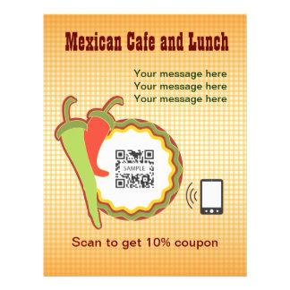 Restaurante del mexicano de la plantilla del aviad tarjeton