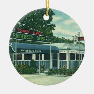 Restaurante del vintage comensal de borde de la c ornamentos para reyes magos