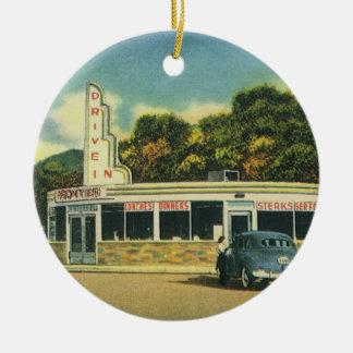 Restaurante del vintage impulsión 50s en comensal ornaments para arbol de navidad