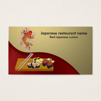 Restaurante japonés tarjeta de negocios