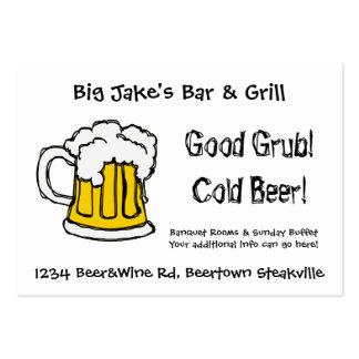 Restaurante o licorería del bar y grill de la tarjetas de visita grandes