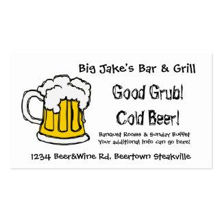 Restaurante o licorería del bar y grill de la tarjetas de visita
