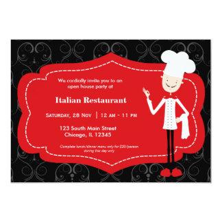 Restaurante superior del cocinero invitacion personal