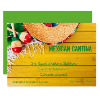 Restaurante temático mexicano invitación 12,7 x 17,8 cm
