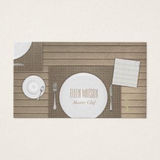 Restaurante y abastecimiento tarjeta de negocios