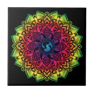 Resto de la tetera del gato del hippy de la azulejo de cerámica