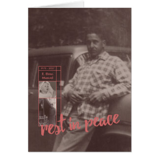 resto en invitaciones del entierro de la paz tarjeta de felicitación