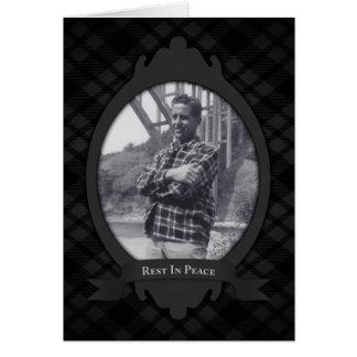 resto en invitaciones del funeral de la paz tarjeta pequeña