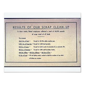 Resultados de nuestra limpieza del pedazo comunicados