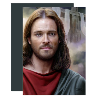 Resurrección de Jesús que pinta las tarjetas Invitación 12,7 X 17,8 Cm