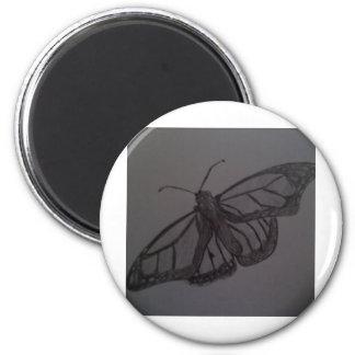 Resurrección de la mariposa: Arte dibujado mano de Imán Para Frigorífico