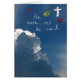 Resurrección de Pascua él es Jesús subido subió Tarjeta De Felicitación