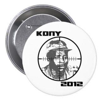 Retículos 2012 de la blanco de Kony José Kony Pins
