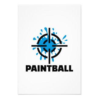 Retículos del chapoteo de Paintball