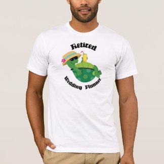 Retirado casando al planificador (tortuga) camiseta