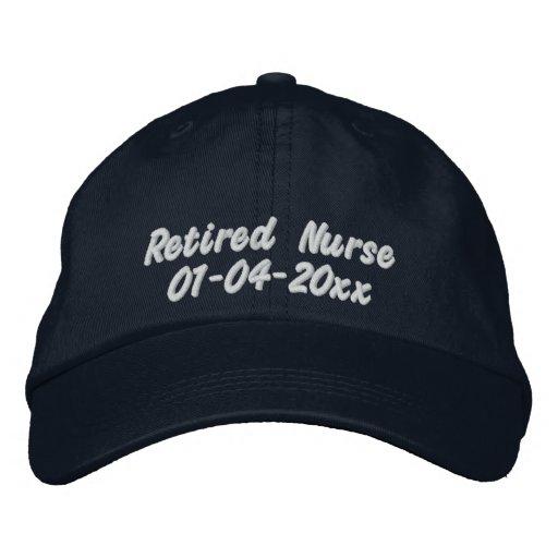 Retirado Enfermera-Personalice la fecha Gorra De Béisbol