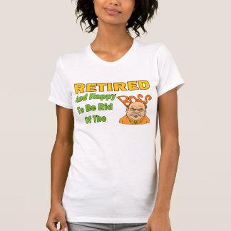 Retirado y feliz camiseta